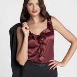 Votre Mode Bluza cu volane fara maneci femei marimi mari VOTRE MODE 38-58