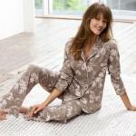 3 Suisses Collection Pijama cu flori femei marimi de la 38 la 44