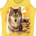 Mountain Life Maieu Dama Nice Wolf on Yellow