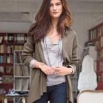 3 Suisses Collection Bluza cu maneca lunga, cu dungi sau uni