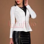 Atmosphere Fashion Sacou elegant ivoire snur pe spate